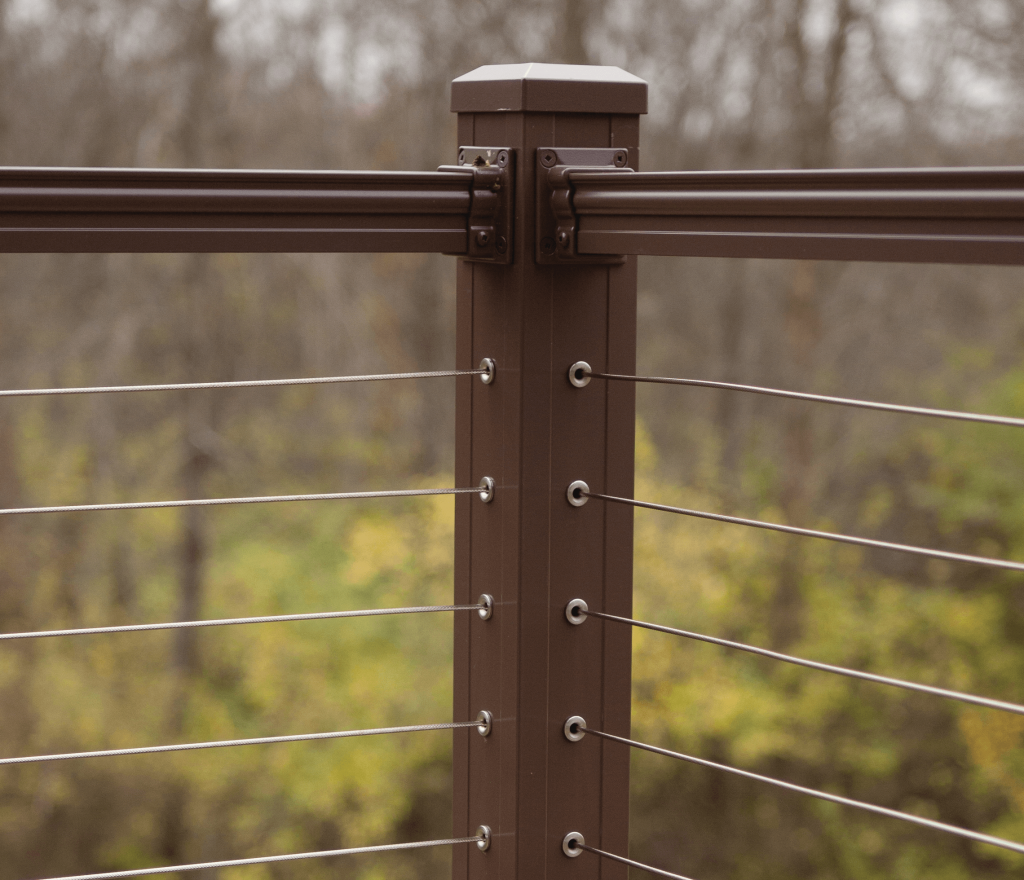 Horizontal Cable Infill Railing System Key Link Fencing