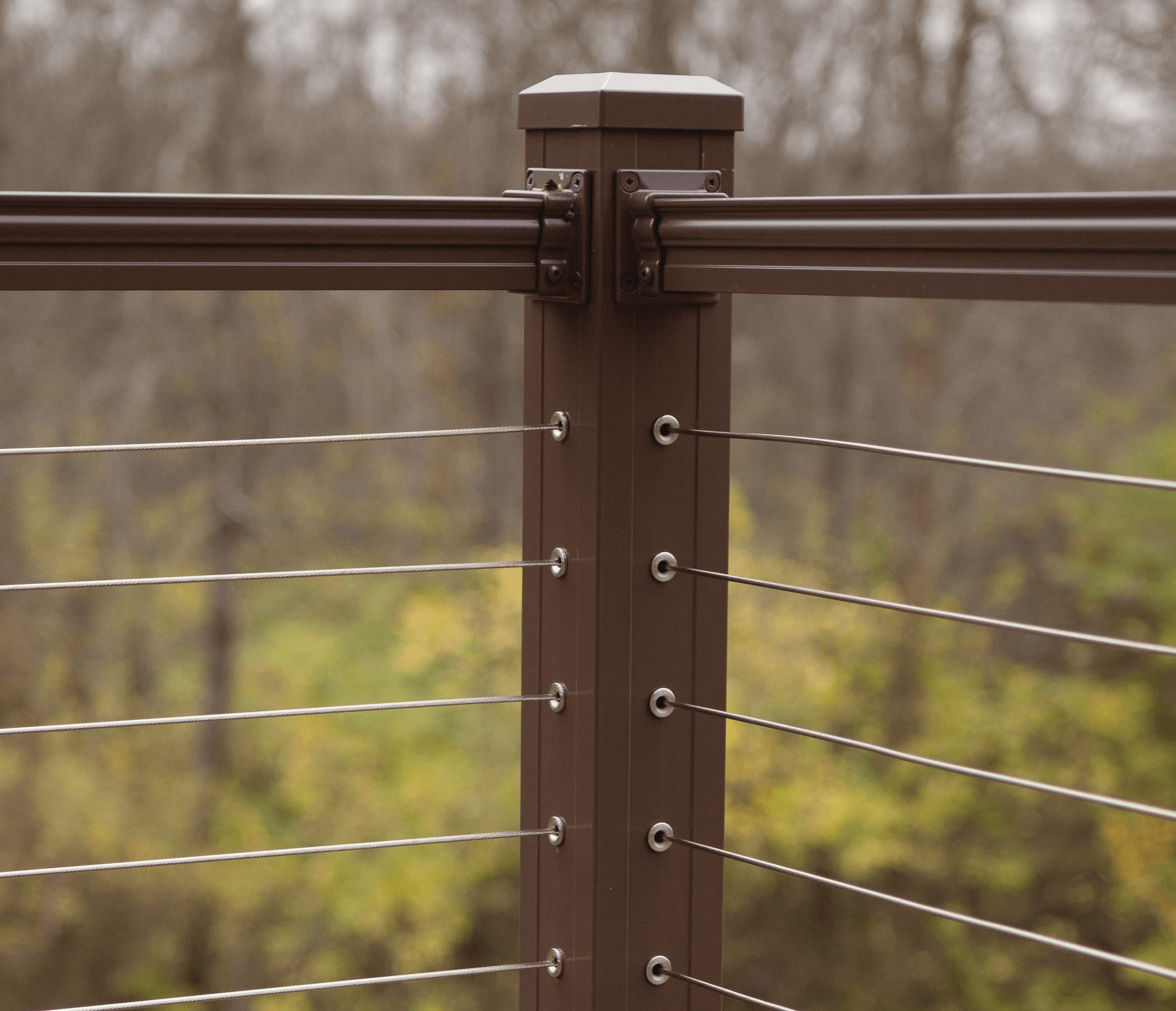 Key-Link Fencing & Railing - Horizontal Cable Railing Infill System