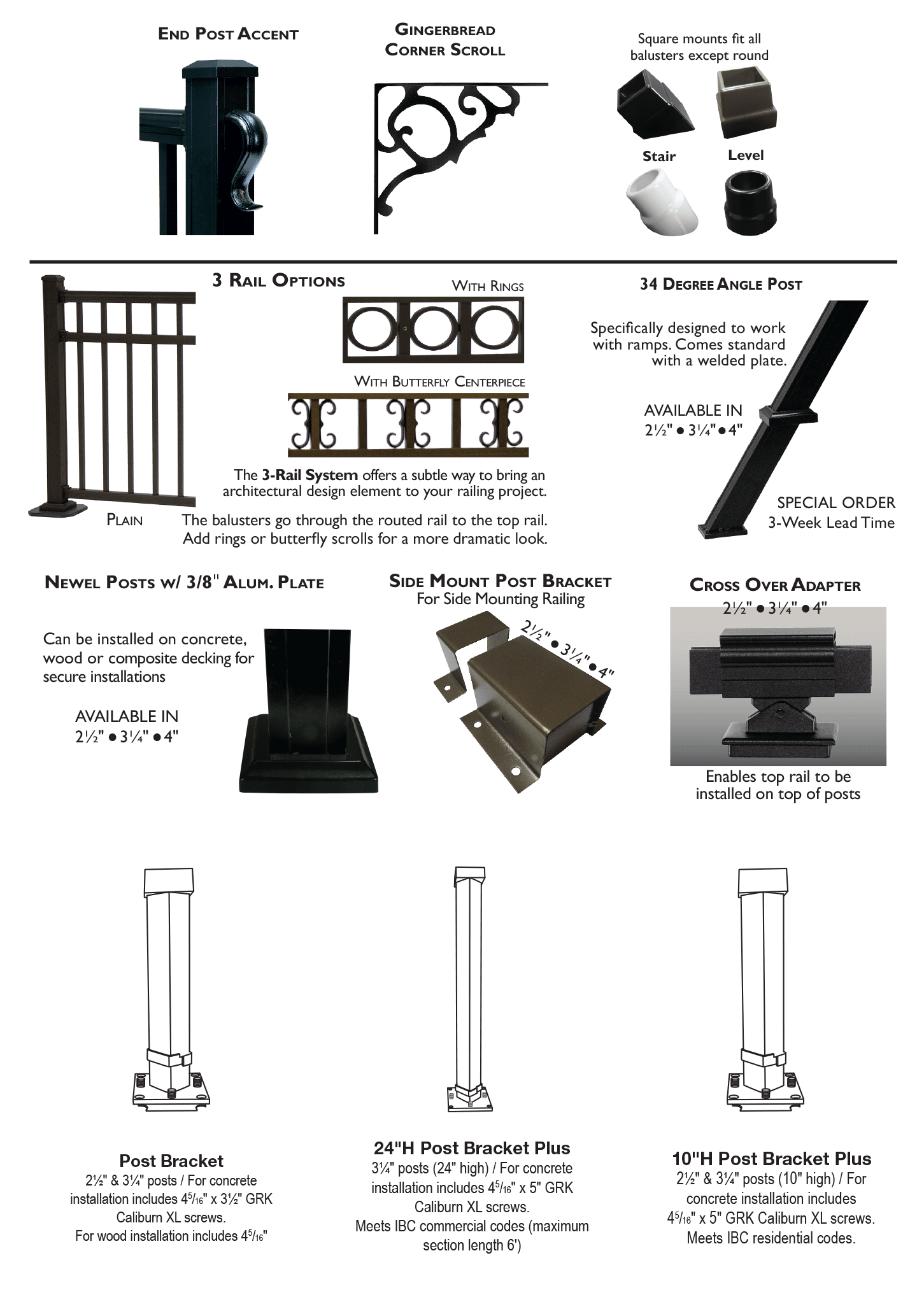 Key-Link Fencing & Railing - Aluminum Railing Accessories